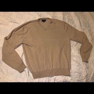 Club Room Cashmere Sweater Size L Tan